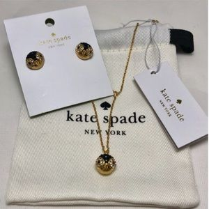 NWT KateSpade Bundle - Penguin Necklace & Earrings